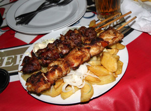 Goat and Fish Brochettes