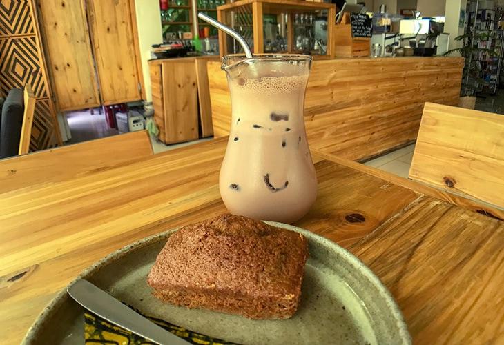 Iced Mocha, Inzora Rooftop Cafe, Kigali