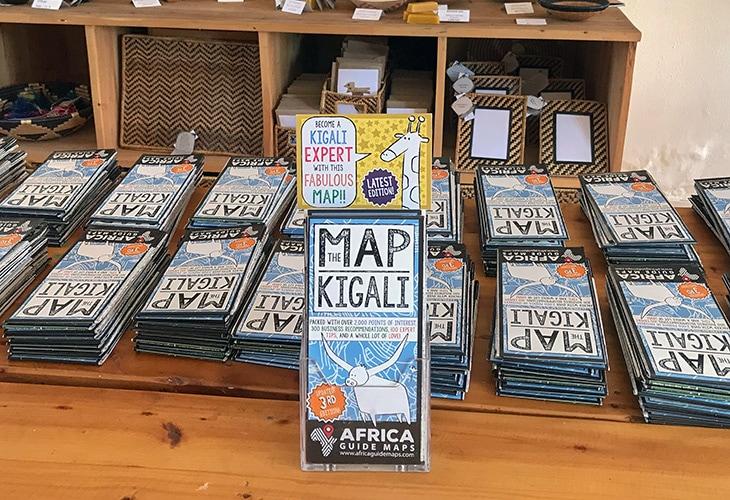 Kigali Map, Rwandan Souvenirs