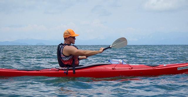 Kayaking on Lake Kivu with Kingfisher Journeys