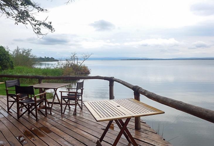 Deck View, Ruzizi Tented Lodge, Akagera