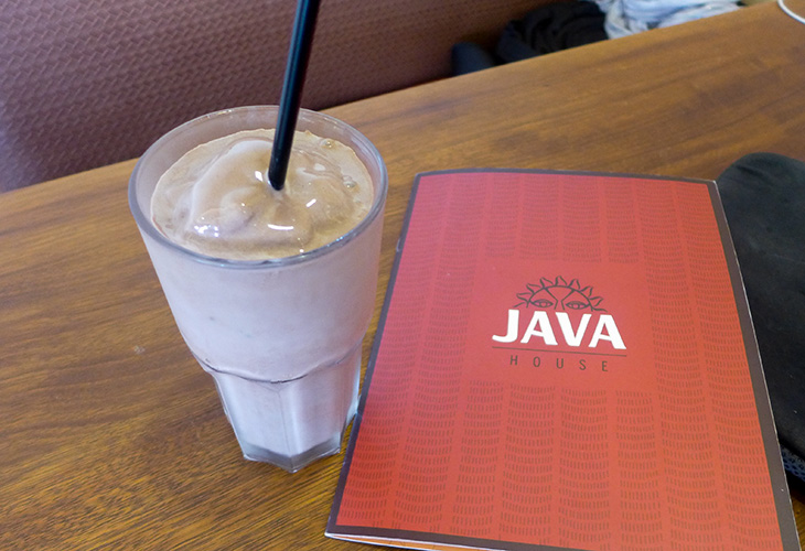 Milkshake, Java House, Kigali