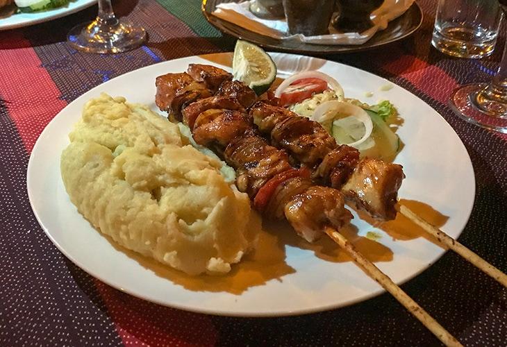 Brochettes, Repub Lounge, Kigali