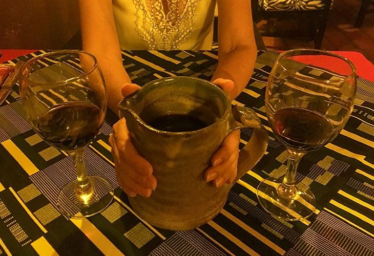 Carafe of Wine, Repub Lounge, Kigali