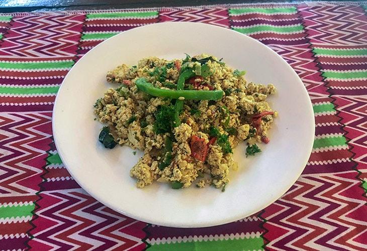 Scrambled Tofu, Afia Organics, Kigali
