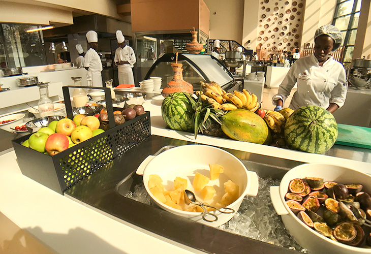 Breakfast Buffet, Marriott Hotel, Kigali