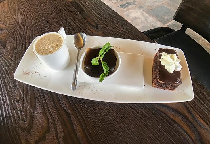 Dessert Trio, Inka Steakhouse, Kigali