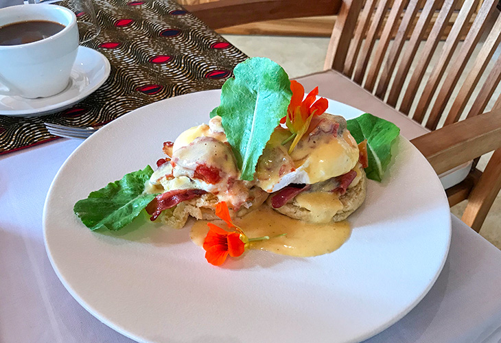 Eggs Benedict, The Retreat, Kigali