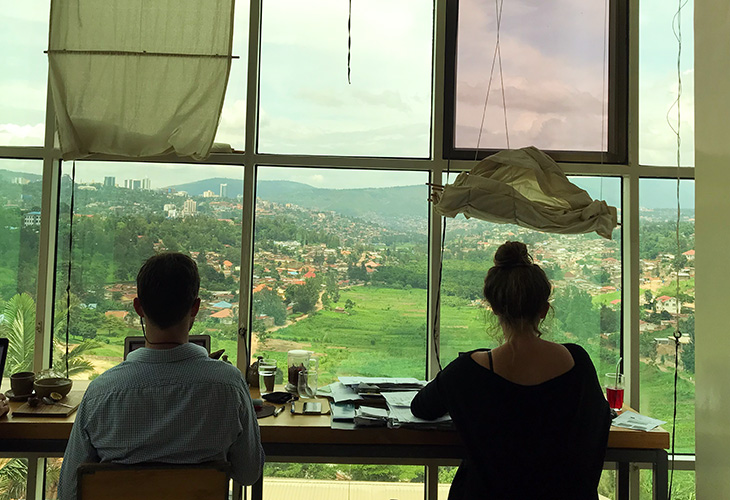 Inzora Rooftop Cafe, Best Views in Kigali