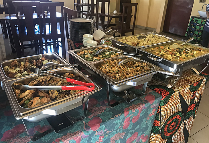 Lunch Buffet, Borneo Indonesian, Kigali