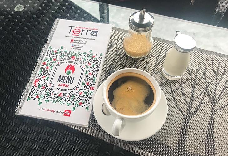 Coffee, Terra Caffe, Kigali