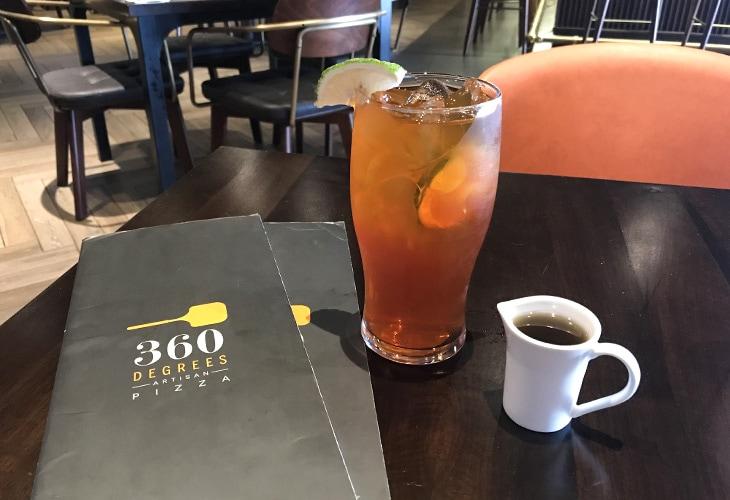 Iced Tea, 360 Degrees Pizza, Kigali