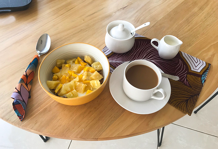 Breakfast, ViaVia Guesthouse, Kigali